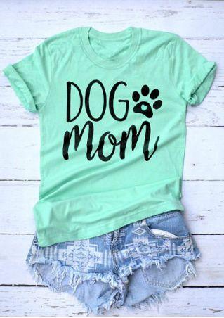 Dog Mom Paw O-Neck T-Shirt