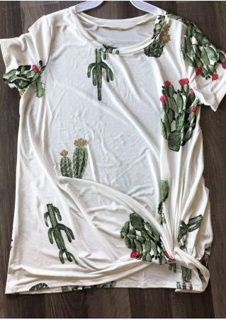 Cactus Twist O-Neck T-Shirt