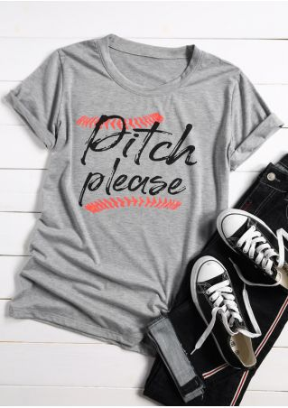 Pitch Please O-Neck Short Sleeve T-Shirt
