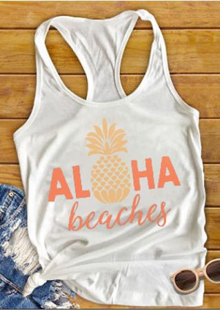 Aloha Beaches Pineapple Racerback Tank