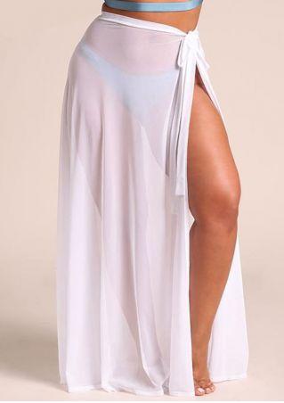 6d8082c9b86 Plus Size Solid Mesh Sarong Cover Up - Fairyseason