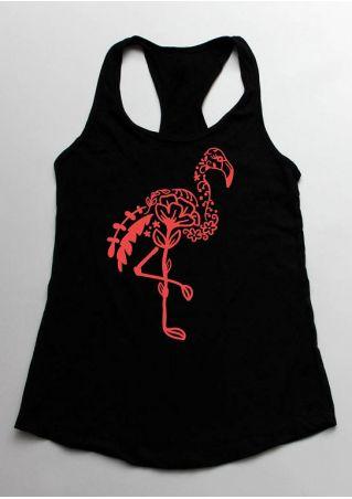 Flamingo O-Neck Racerback Tank