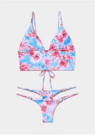 Floral Sexy Bikini Set without Necklace