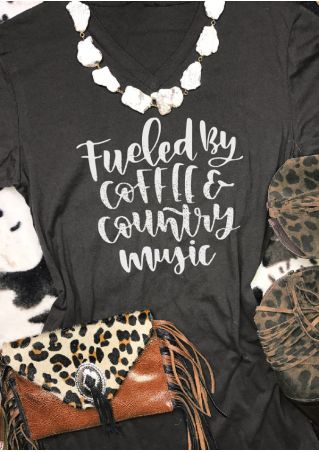 Fueled By Coffee & Country Music T-Shirt