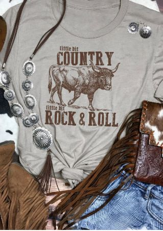 Country Rock & Roll O-Neck T-Shirt