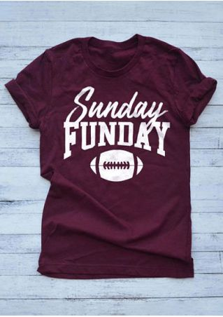 Sunday Funday O-Neck Short Sleeve T-Shirt