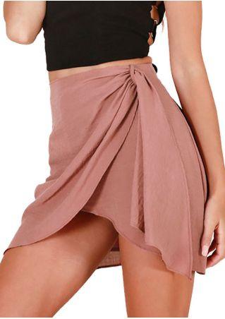 Solid Asymmetric Skirt