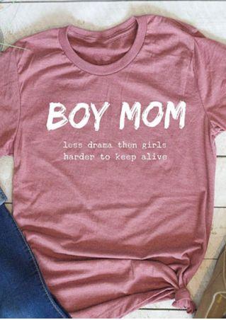 Boy Mom O-Neck Short Sleeve T-Shirt