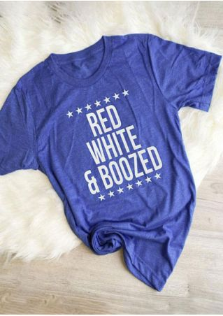 Red White & Boozed O-Neck T-Shirt