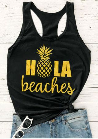 Hola Pineapple Beaches Tank