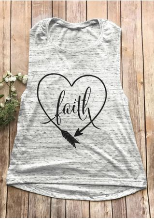 Faith Arrow Heart O-Neck Tank