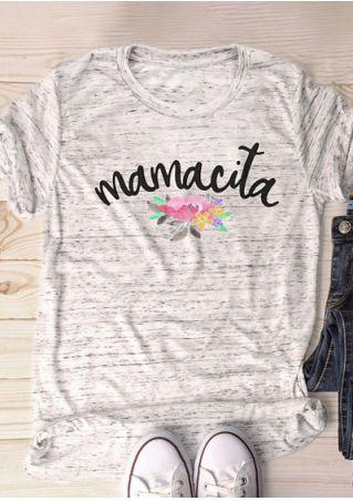 Mamacita Floral O-Neck T-Shirt