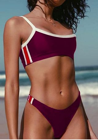 Color Block Sexy Bikini Set without Necklace