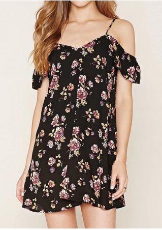 Floral Off Shoulder Mini Dress