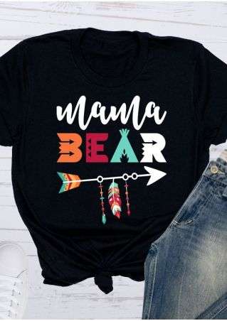 Mama Bear Arrow O-Neck T-Shirt