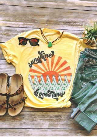 Sunshine & Good Times O-Neck T-Shirt