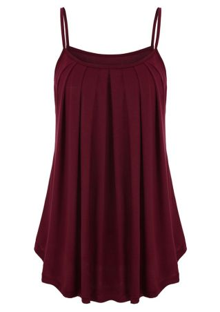 Solid Ruffled Camisole