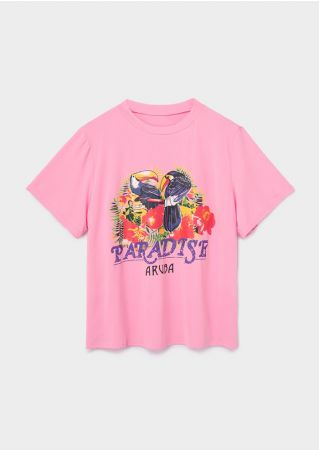 Plus Size Paradise O-Neck T-Shirt