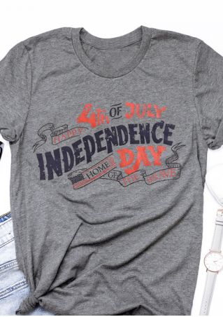 Happy Independence Day O-Neck T-Shirt