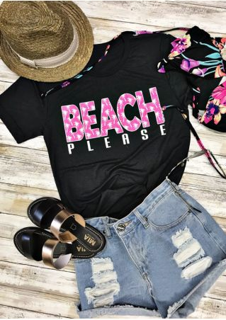 Beach Please Short Sleeve T-Shirt