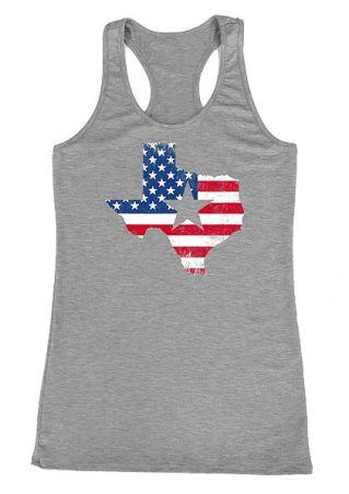 American Flag Texas Star Tank