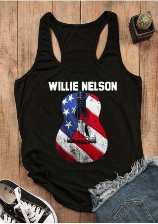 Willie Nelson American Flag Guitar Tank