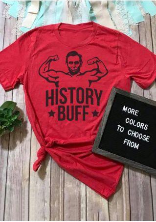 History Buff Star O-Neck T-Shirt