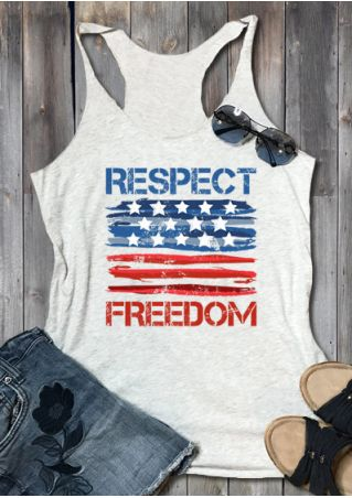 Respect Freedom American Flag Tank