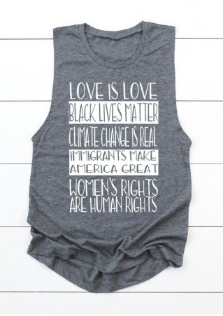 Love Is Love Black Lives Matter Tank