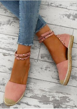 Splicing Ankle Strap Buckle Flats