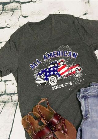 All American Since 1776 Car T-Shirt
