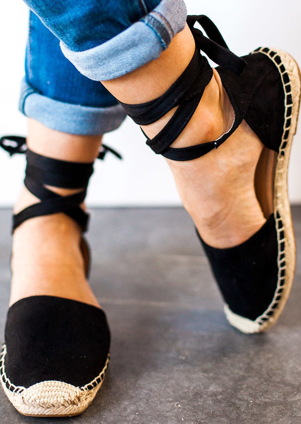 New Splicing Ankle Wrap Flats, Flats