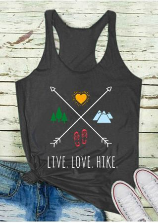 Live Love Hike Arrow Tank