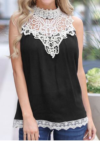 Lace Splicing Sleeveless Tank