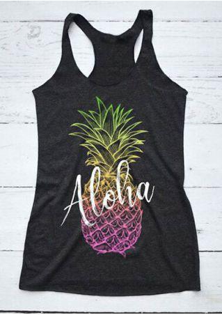 Aloha Pineapple O-Neck Tank
