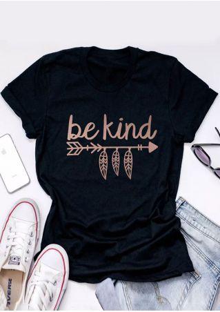 Be Kind Arrow O-Neck T-Shirt