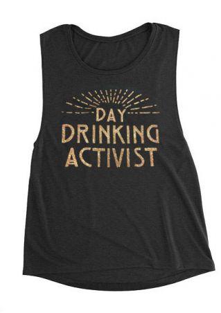 Day Drinking Activist Tank