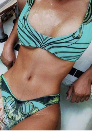 Printed Sexy Bikini Set