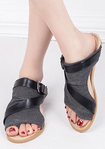 Buckle Strap Flat Sandals