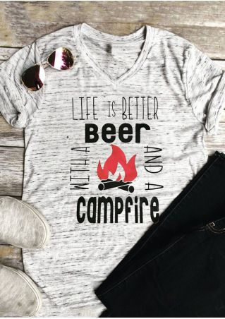Life Is Better With A Beer And A Campfire T-Shirt