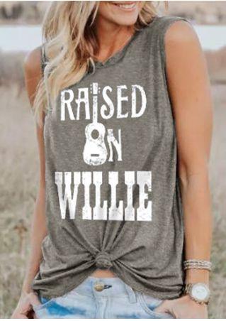 Raised On Willie Guitar Tank