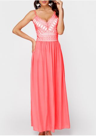 Splicing Back Lace Up Maxi Dress