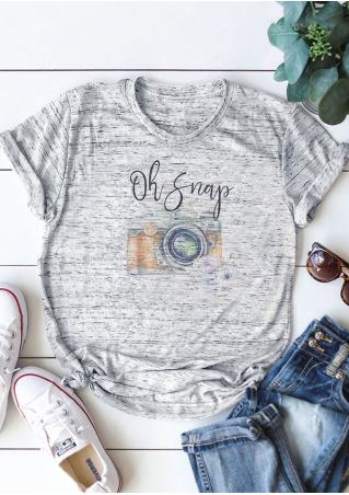 Oh Snap Camera O-Neck T-Shirt