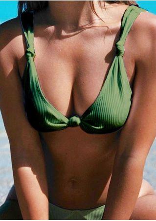 Solid Knot Bikini Set