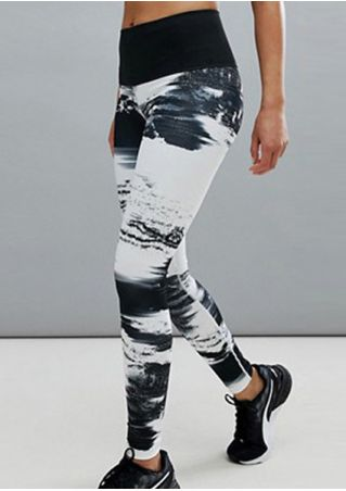 Tie Dye Splicing Sport Pants