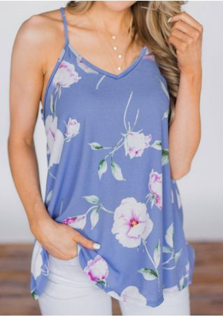 Floral Spaghetti Strap Camisole without Necklace