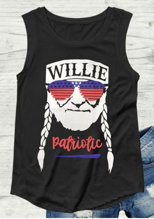 Willie Patriotic O-Neck Tank