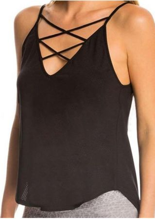 Solid Criss-Cross Camisole