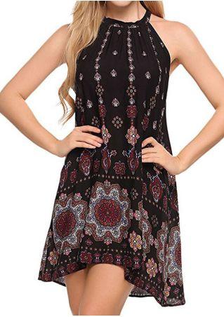 Floral Sleeveless A-Line Mini Dress