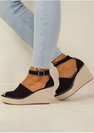 Summer Peep Toe Wedge Sandals